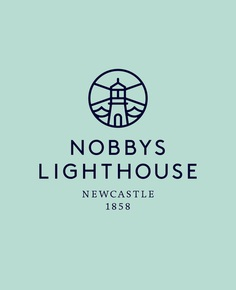 Newcastle Nobbys Lighthouse #branding #design #graphic #identity #newcastle #logo #shorthand #brandmark #typography #lighthouse