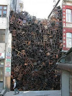 Installation at 8th International Istanbul Biennial, 2003 #chairs #art #installation
