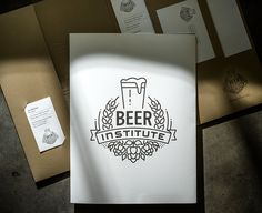 lovely stationery beer institute 1 #logo #logotype #beer
