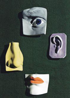Buste Broach #sculpture #bust #paint #art #face #colour