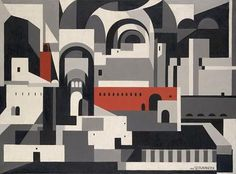 The Painting I Most Want To Steal   After Corbu #monotone #servranckw #cubist #painting