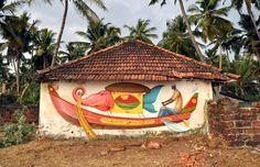 Inspiring Indian Murals in Kerala india #india #murals #inspiring #streetart