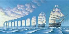 Optical Illusion Paintings by Rob Gonsalves