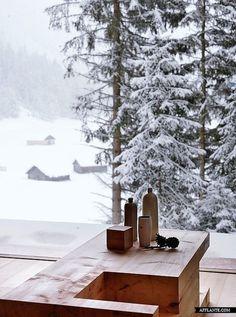 Winterhuis van hout