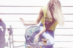 Inspiration for artists from Wildfox Couture - I LOVE WILDFOX - Sweet Valley Fox, Summer 2011 #sun #water #girl #wildfox #photography #jeans