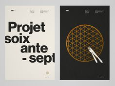 Projet 67 on Behance #print #poster