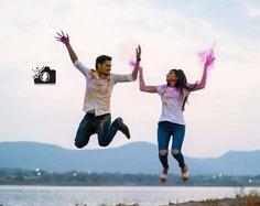 best holi theme pre wedding photoshoot ideas