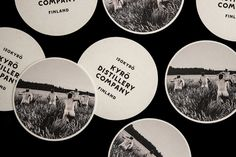 Coasters designed by Werklig for Kyrö Distillery Company #bottle #coasters #distillery #whisky #werklig #typography