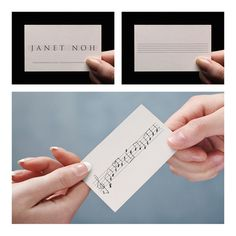 Janet Noh / Musician Promotion on Behance #card #business #musician