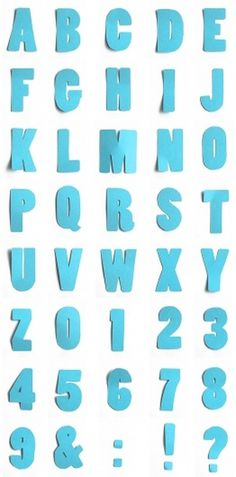 Poplar made of paper « Martin Thiemann #serif #sans #alphabet #papercut #typography