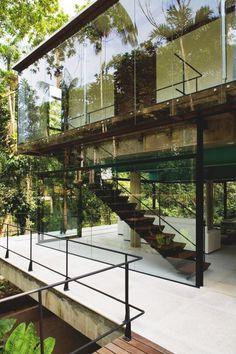 Iporanga House | Source | MVMT | Facebook #glass #natural #exterior #modern