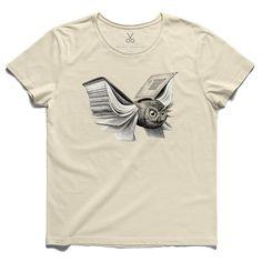 #uilboek #beige #tee #tshirt #stevebest #metamorphosis #owl #book #wing #sheet #redmerhoekstra