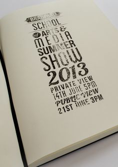 Summer Show Letter press type style #letter #press #typography
