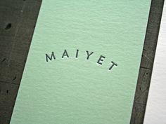 Maiyet_BusCard2 #letterpress