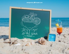 Beach concept with slate and cocktail Free Psd. See more inspiration related to Mockup, Summer, Template, Beach, Sea, Sun, 3d, Holiday, Board, Chalkboard, Mock up, Glass, Drink, Chalk, Cocktail, Vacation, Psd, Sand, Summer beach, Sunshine, Mockups, Chalk board, Up, Season, Concept, Starfish, Slate, Seashells, Mock, Summertime, 3d mockup, Psd mockup and Seasonal on Freepik.