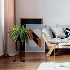 Outlined.cc Limited Edition Artwork Two Circles and a Diagonal geometric art print design artprint wallart
