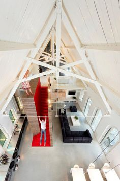 trendland_godsloftstory_01 #interior #red #design #color #roof #architecture #pitched