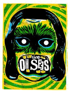 Thee Oh Sees: Fall Tour Poster, 2011 Unitus #gig #poster
