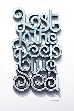 """Lost in the Deep blue Sea"", found on http://typostrate.com #typography #type"