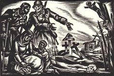 04sica-bookplate12_900.jpg (700×471) #wood #skull #etching #nazi