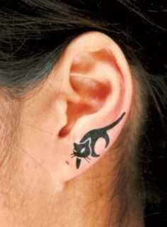 55 Examples of Cute Cat Tattoo #cute #tattoo #cat