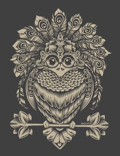 Behance :: bird by Sergey Kovalenko #owl