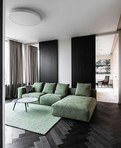Minimalist Urban Dwelling in Vilnius in Dark Color Selection - InteriorZine #decor #interior #home