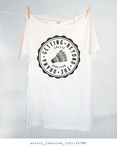 Design by Arctic Junction #clothing #tshirt #logo #vintage #tee #fashion #sport #badminton