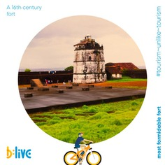 Ditch the beaches to witness the panoramic ocean vista from the most unique and formidable fort of Goa. Built in 1612 by the Portuguese colonial rulers to safeguard Old Goa from the Marathas and Dutch attacks, this fort offers breath-taking views. Also well-known for having Asia's first-ever lighthouse. Ride with us and be in for an awe-inspiring surprise. Call or WhatsApp at 📞+91 86696 00373 or visit us at blive.co.in to book a tour with us. #letsblive #funoverfuel #worldtourismday #tourismunliketourism #goabeyondbeaches #travel #instatravel #instagoa #wanderlust #fun #ev #ecotourism #eco #tours #TravelTuesday #ebikes #discovery #goavibes 🌴 #goatourism #goaindiatravel