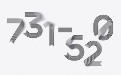 Shanghai Ranking Numerals (3), Sawdust #numerals #experimental #ribbon #sawdust #typography