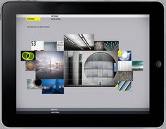 Moodshare iPad app by Niketo #cloud #moodboard #ipad #interface #app #gray #collage