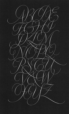 Typeverything.com Copperplate by Fred Salmon. (via type lovers) #lettering #script