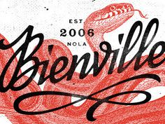 Bienville #illustration #typography