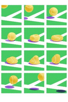 It's Nice That : No ball puns allowed: The official Wimbledon 2012 posters from Kingston students #kingston #wimbledon #illustration #sport #student