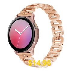 Watch #Band #For #Samsung #Galaxy #Watch #Active #2 #Strap #Diamond #Band #D #Word #Chain #- #ROSE #GOLD