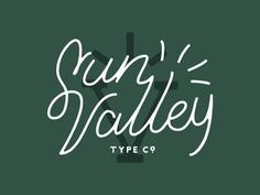 Sun Valley Lettering / Logotype