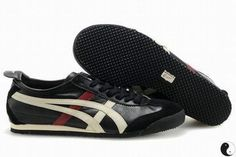 Asics Mexico 66 Black/Beige/Red Women's #shoes