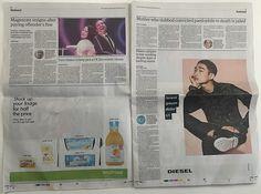 diesel, lorem ipsum, newspaper, ad