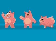 Presentation Pigs on the Behance Network #illustration #presentation #pigs