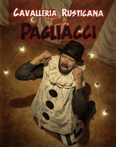 First-Stop » Pagliacci #mark #stutzman #clown #illustration #opera #poster #watercolor