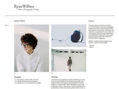 Ryan Willms - Journal - Tricker's on Zootool #website #minimalist #white