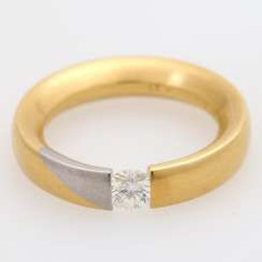 BUNZ tension ring with 1 diamond approx 0,53 ct