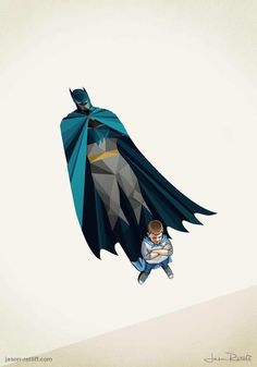 Children's Superheroes Shadows by Jason Ratliff