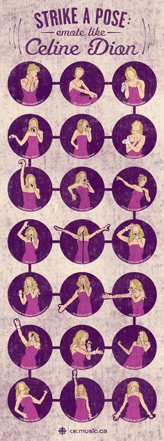CelineDion Strike A Pose Infographic 852px