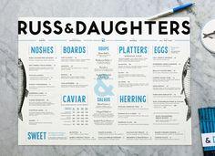 Kelli Anderson: Russ & Daughters / on Design Work Life #menu