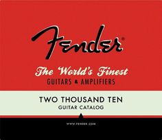 Fender Product Catalog Â« matmacquarrie.ca #fender #red #book #cover #macquarrie #vintage #mat #typography