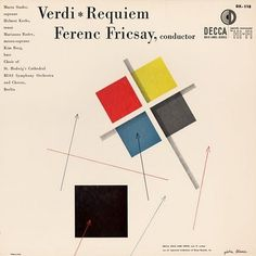 Symphonie Fantastique: Requiem (Decca, 1953) #album #1950s #design #graphic #alex #cover #steinweiss #mid #minimal #century