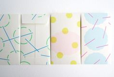 ドーのプチ袋セット #playful #stationary #irregular #geometric #pastel