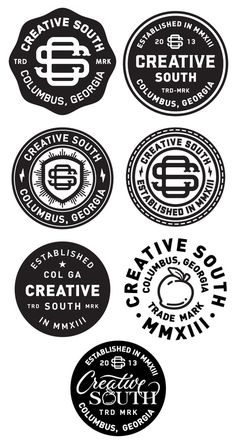 Creative south badge_finals #branding #identity #logos #badge #final