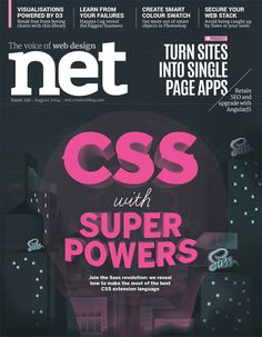 NET MAGAZINE - SASS on Behance #front #jamesp0p #oconnell #cover #james #illustration #net #magazine